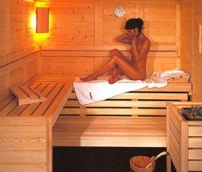 hotel sauna: